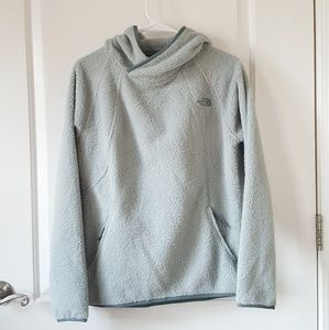 The North Face pullover new green medium hooded